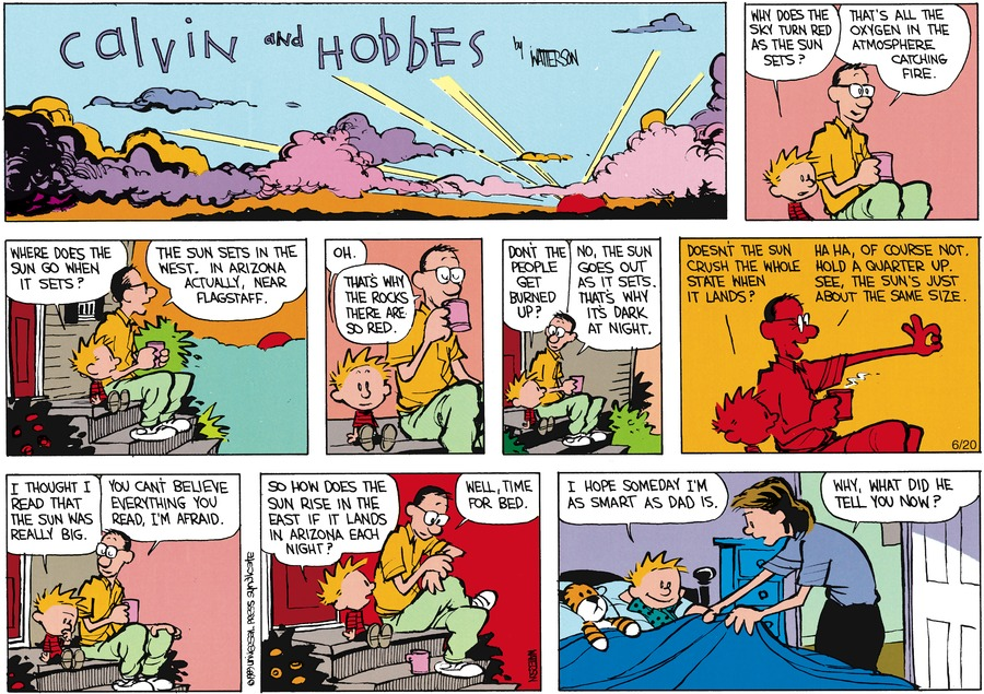 Calvin and Hobbes Comic Strip for July 30, 1989