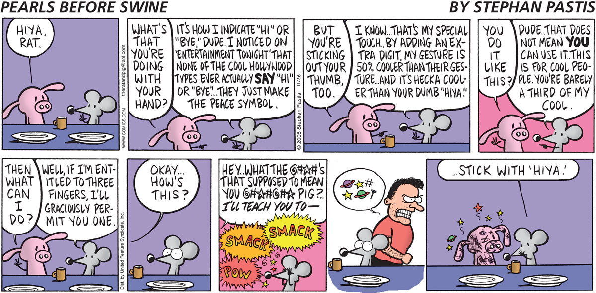 Pearls Before Swine Comic Strip for November 26, 2006