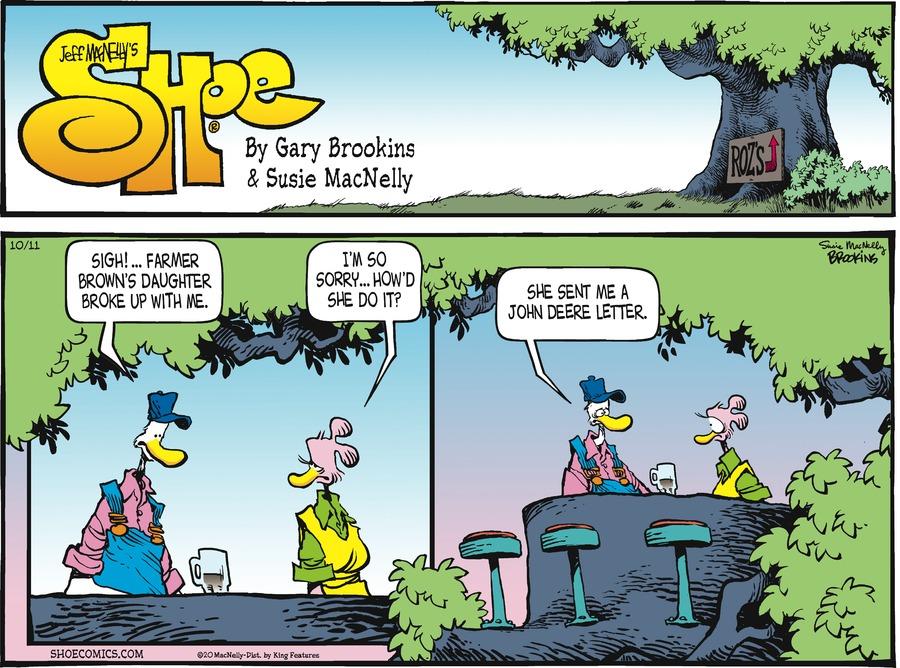 Shoe Comic Strip for October 11, 2020