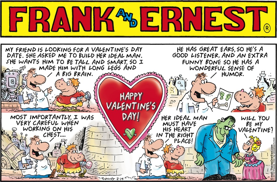 Frank and Ernest Comic Strip for February 14, 2016
