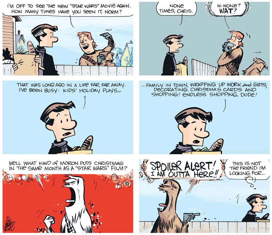 The Norm 4.0 Comic Strip for December 28, 2015