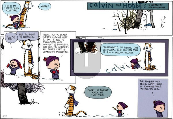 Calvin and Hobbes - Sunday January 10, 1993 Comic Strip