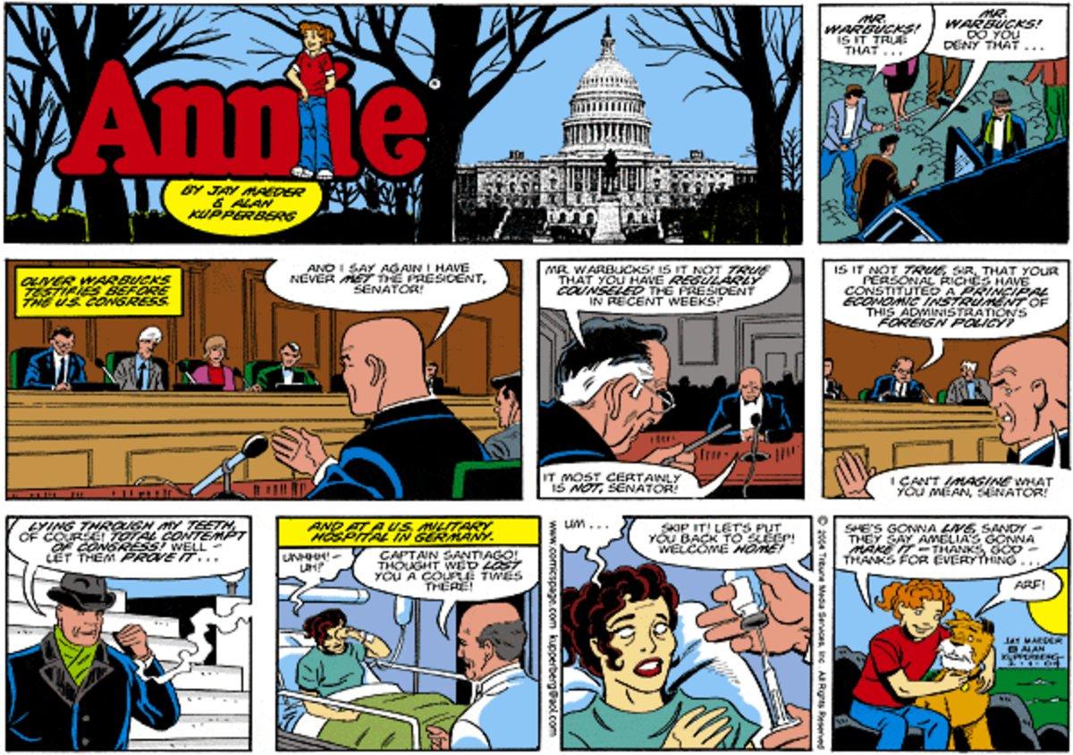Annie Comic Strip for November 02, 2014
