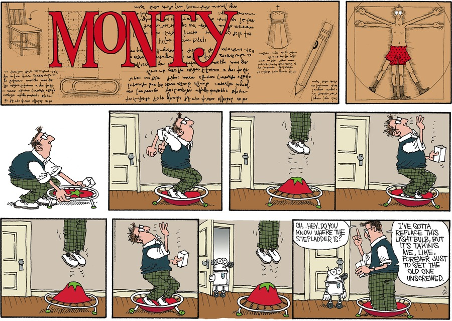 Monty Comic Strip for March 30, 2014