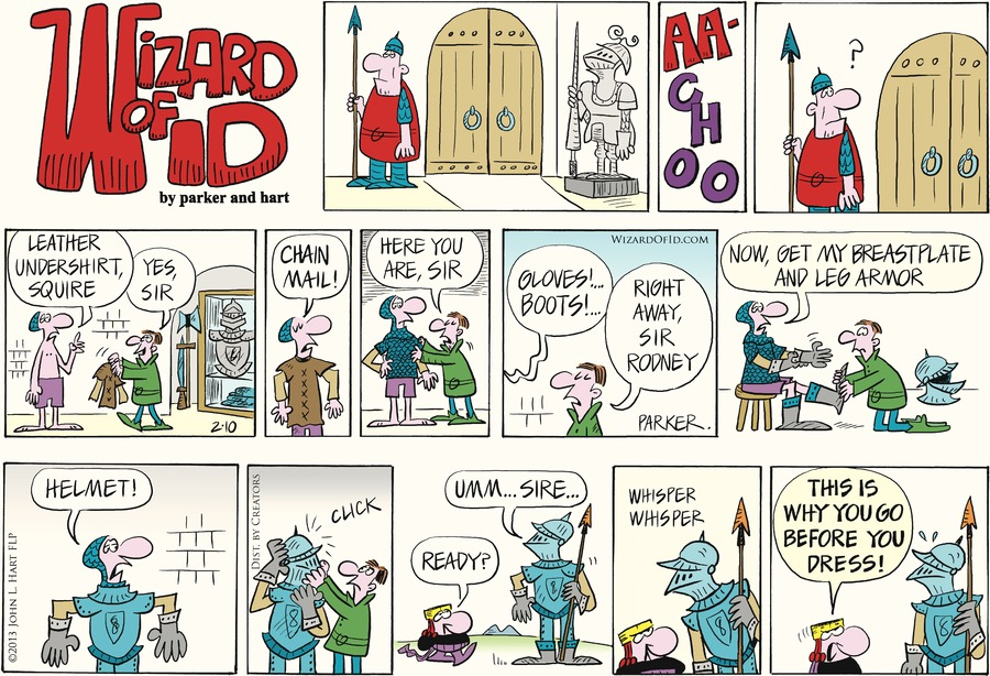 Wizard of Id Comic Strip for February 10, 2013