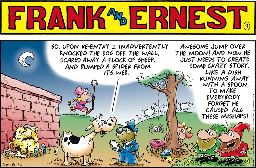 Frank and Ernest Comic Strip for July 10, 2016