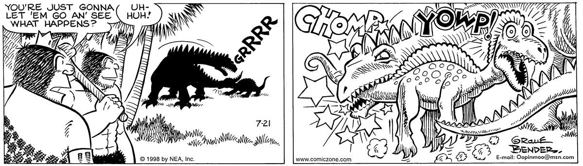 Alley Oop for Jul 21, 1998 Comic Strip