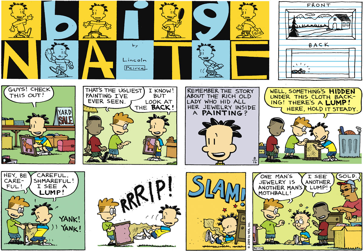 Big Nate for Aug 16, 2009 Comic Strip