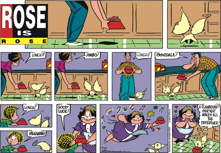 Rose is Rose Comic Strip for July 21, 2013