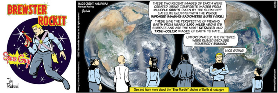 Brewster Rockit Comic Strip for March 18, 2012