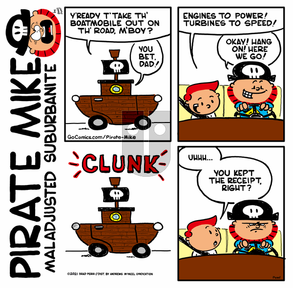 Pirate Mike on Friday April 2, 2021 Comic Strip