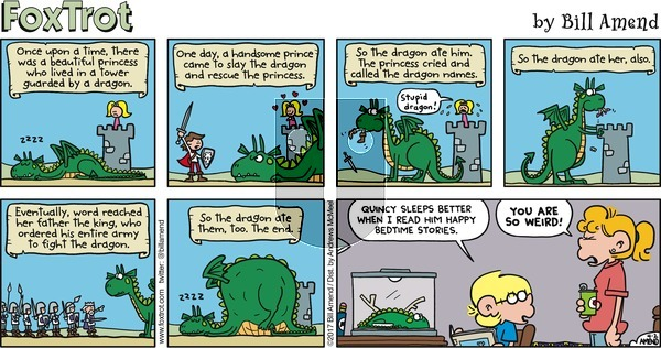 FoxTrot on Sunday April 2, 2017 Comic Strip