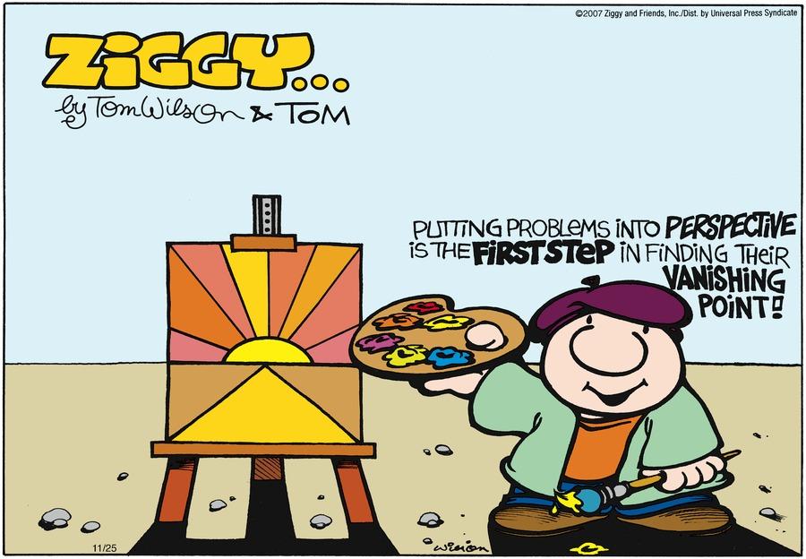 Ziggy Comic Strip for November 25, 2007