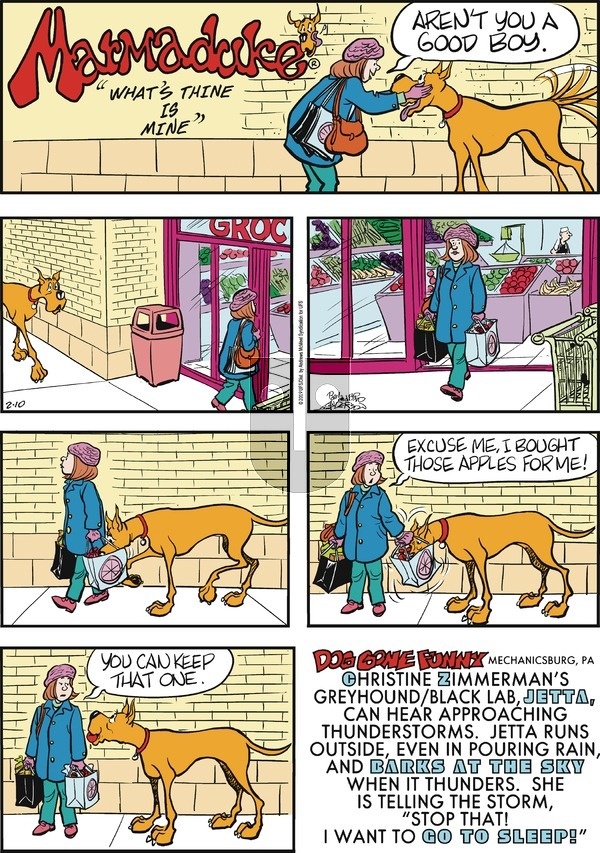 Marmaduke - Sunday February 10, 2019 Comic Strip