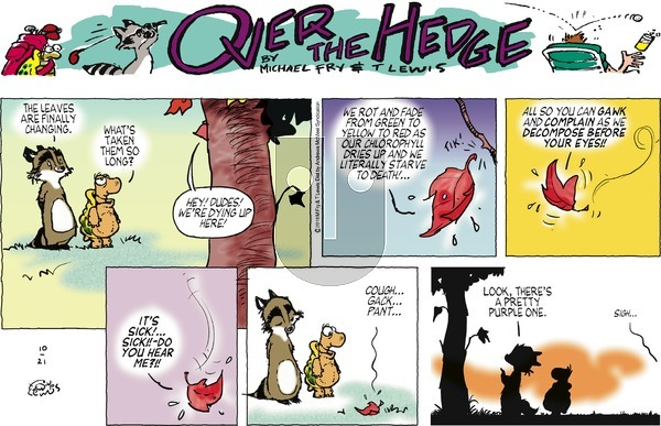 Over the Hedge - Sunday October 21, 2018 Comic Strip