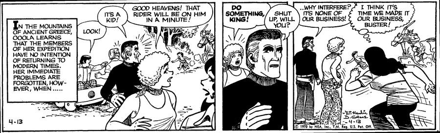 Alley Oop Comic Strip for April 13, 1970