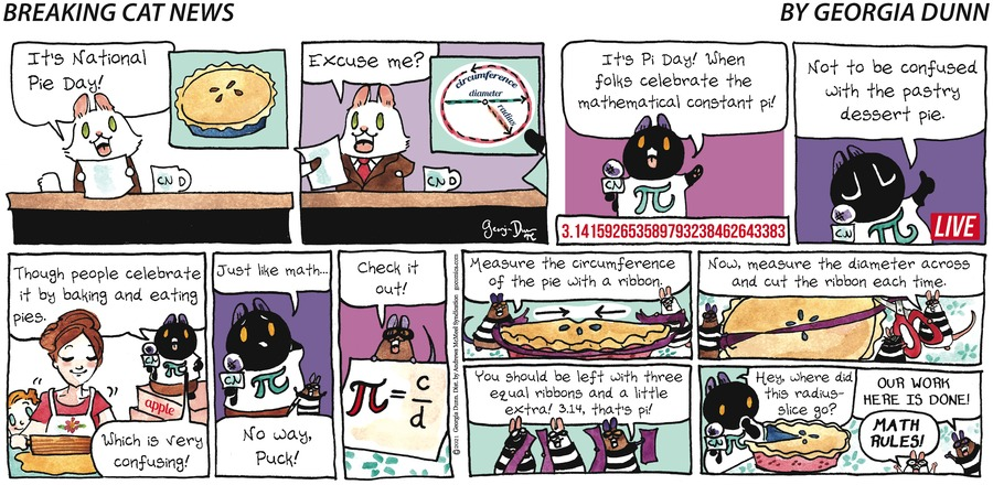 Breaking Cat News Comic Strip for March 14, 2021