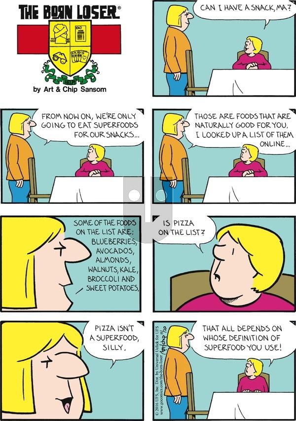 The Born Loser on Sunday November 20, 2016 Comic Strip