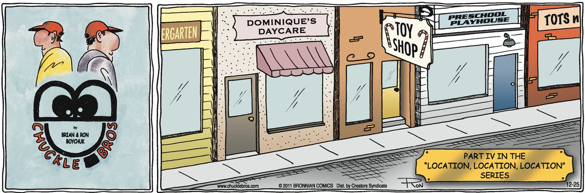 Chuckle Bros for Dec 25, 2011 Comic Strip