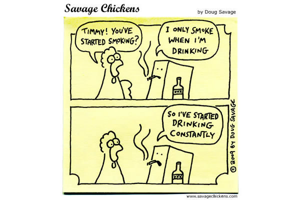 Chicken: Timmy! You've started smoking?