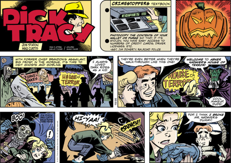Dick Tracy Comic Strip for October 30, 2011
