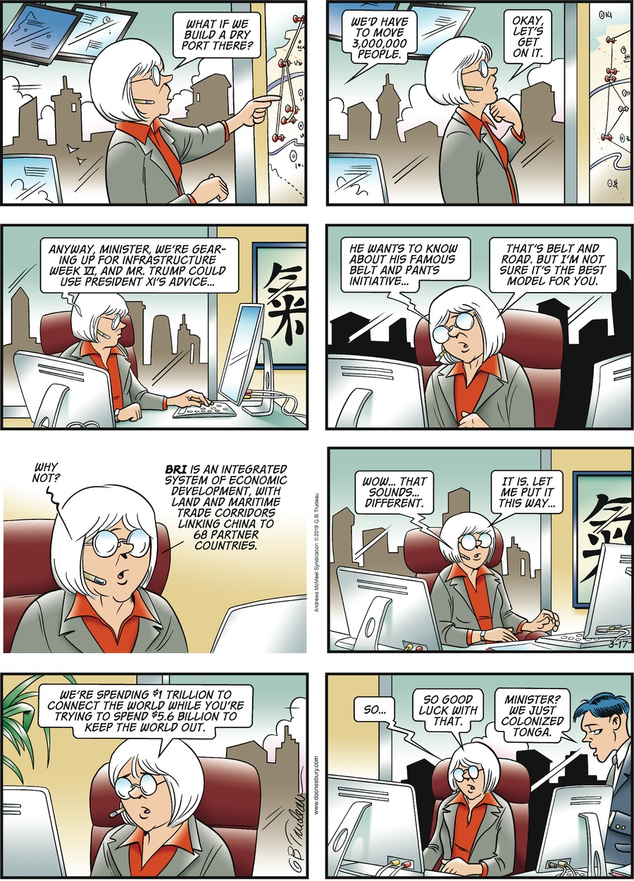 Doonesbury Comic Strip for March 17, 2019
