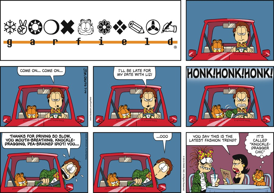 Jon:  Come on...come on...  I'll be late for my date with Liz!