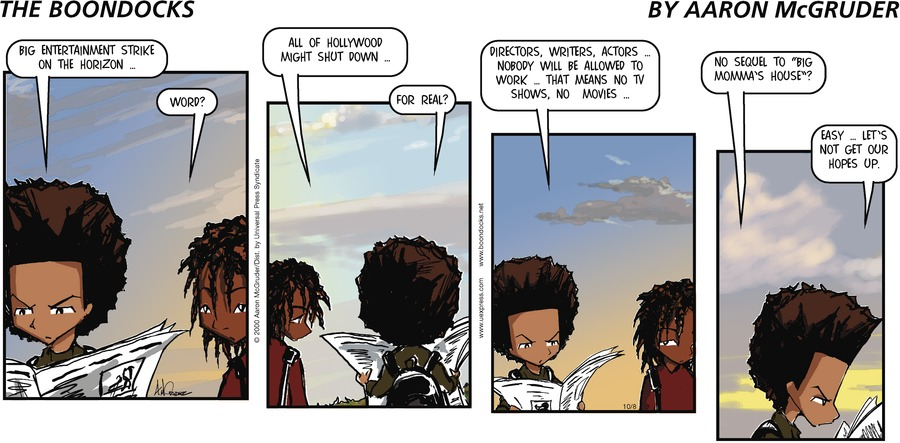 The Boondocks Comic Strip for October 08, 2000