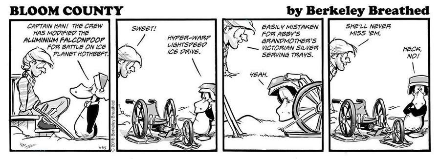 Bloom County 2018 Comic Strip for December 15, 2016
