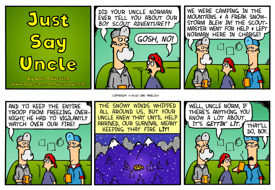 Just Say Uncle by Dan Pavelich on Mon, 20 Apr 2020