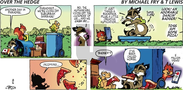 Over the Hedge - Sunday August 6, 2017 Comic Strip