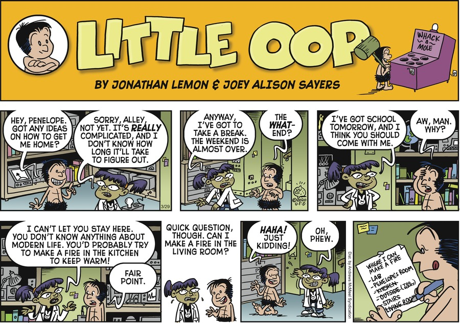 Alley Oop Comic Strip for March 29, 2020