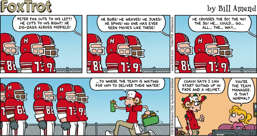 FoxTrot Comic Strip for September 09, 2018