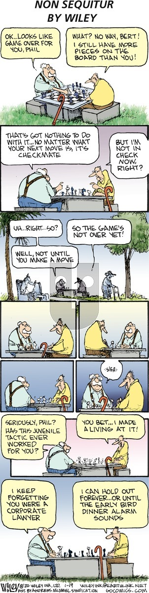Non Sequitur on Sunday January 19, 2020 Comic Strip