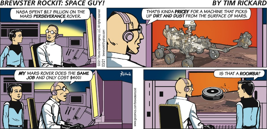 Brewster Rockit Comic Strip for March 21, 2021