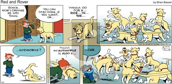 Red and Rover on Sunday March 8, 2020 Comic Strip