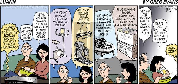 Luann on Sunday September 30, 2007 Comic Strip