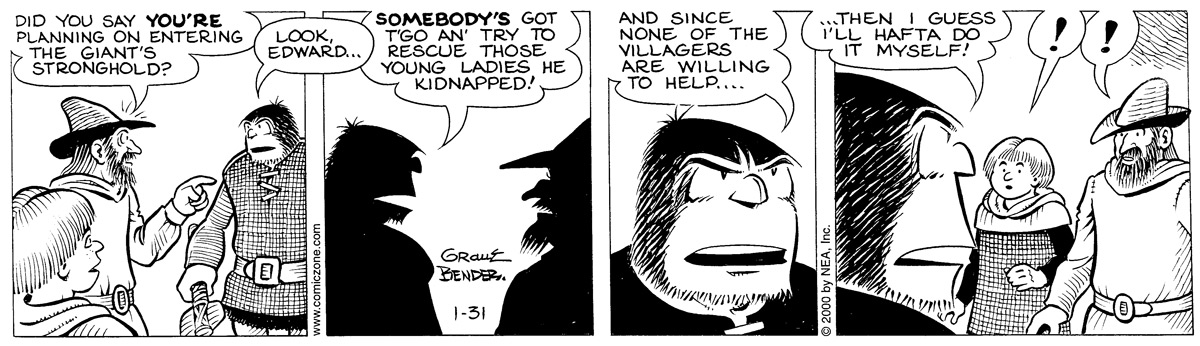 Alley Oop for January 31, 2000 Comic Strip