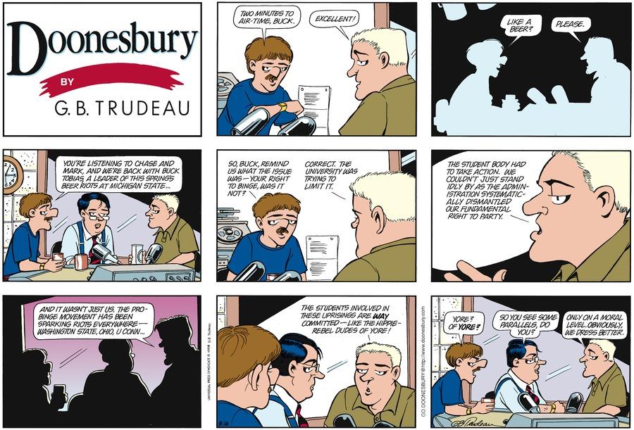 Doonesbury Comic Strip for August 16, 1998