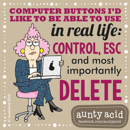 Aunty Acid by Ged Backland for March 31, 2019