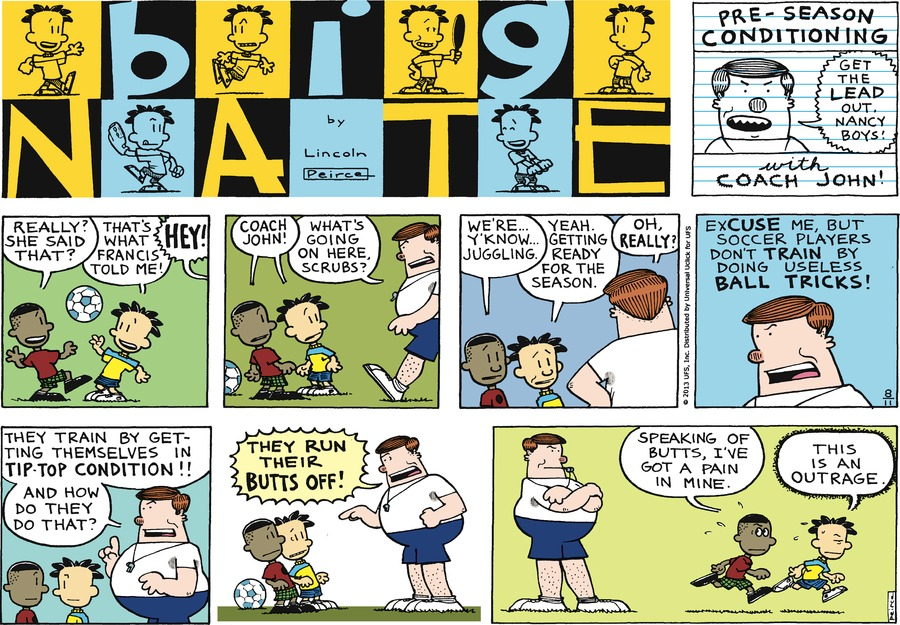 Big Nate Comic Strip for August 11, 2013