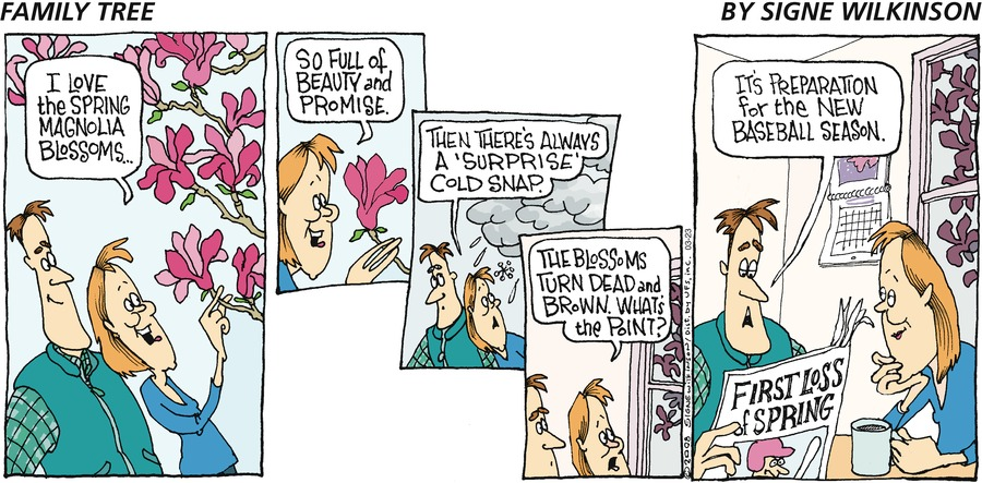 Family Tree Comic Strip for March 23, 2008