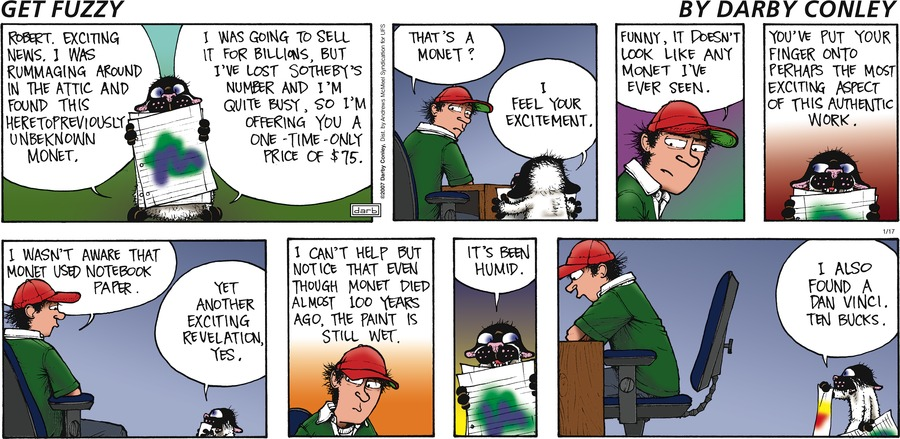 Get Fuzzy Comic Strip for January 17, 2021