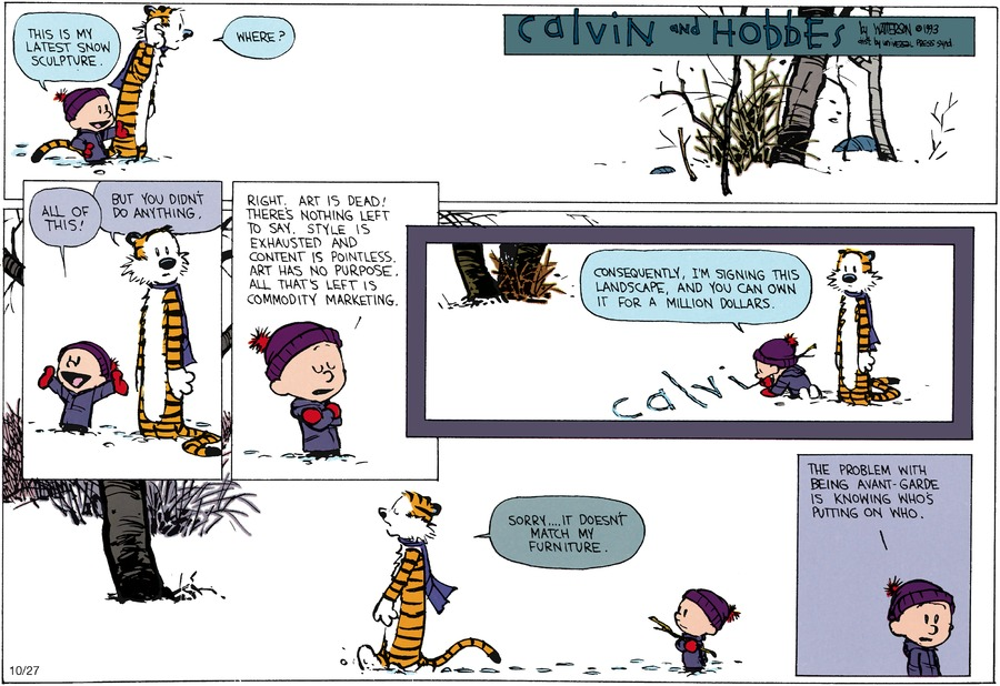 Calvin and Hobbes Comic Strip for January 10, 1993