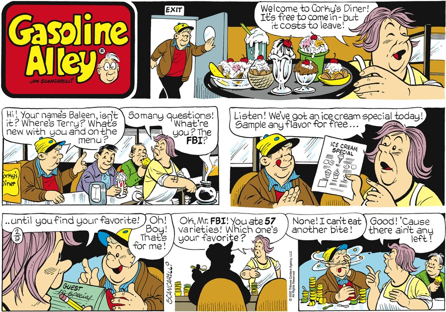 Gasoline Alley Comic Strip for February 09, 2020