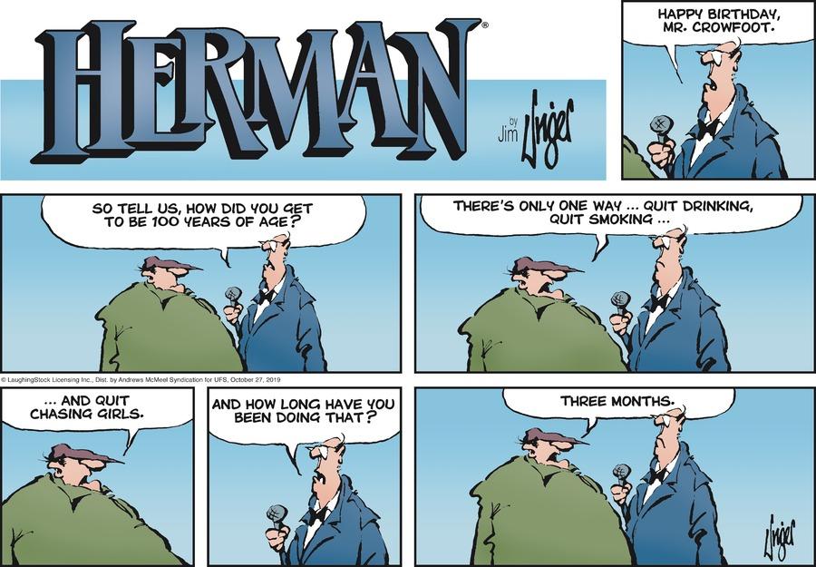 Herman Comic Strip for October 27, 2019
