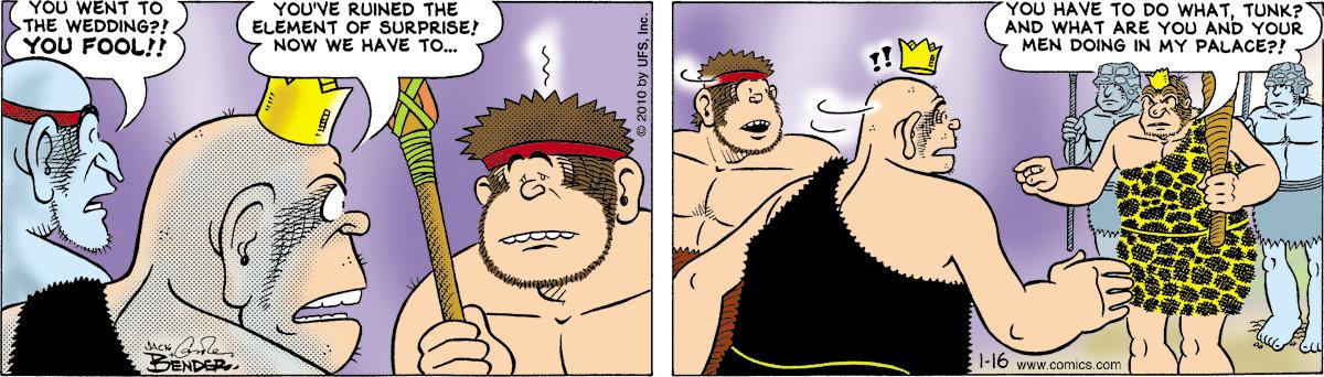 Alley Oop for Jan 16, 2010 Comic Strip