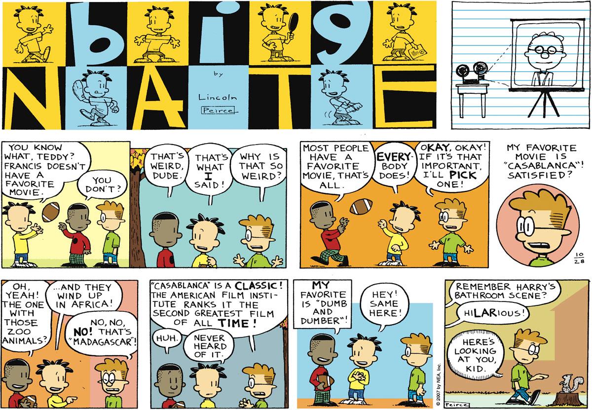 Big Nate Comic Strip for October 28, 2007