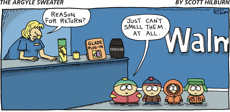 The Argyle Sweater Comic Strip for August 10, 2014