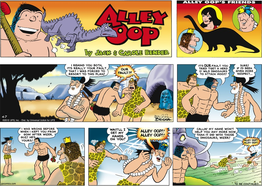 Alley Oop for Apr 7, 2013 Comic Strip